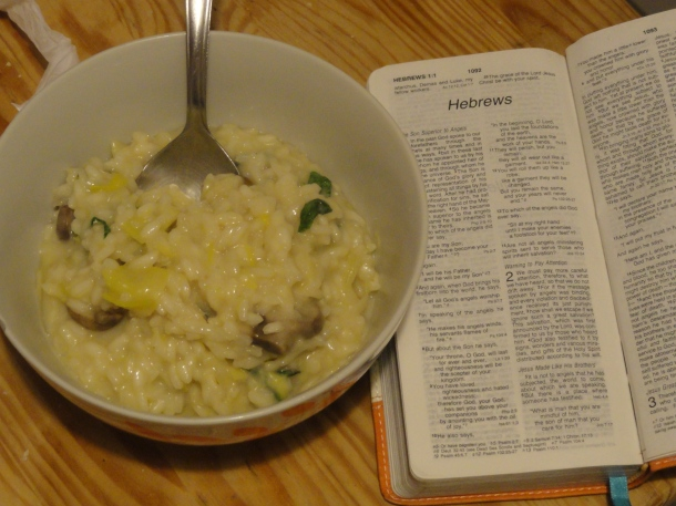 risotto and hebrews